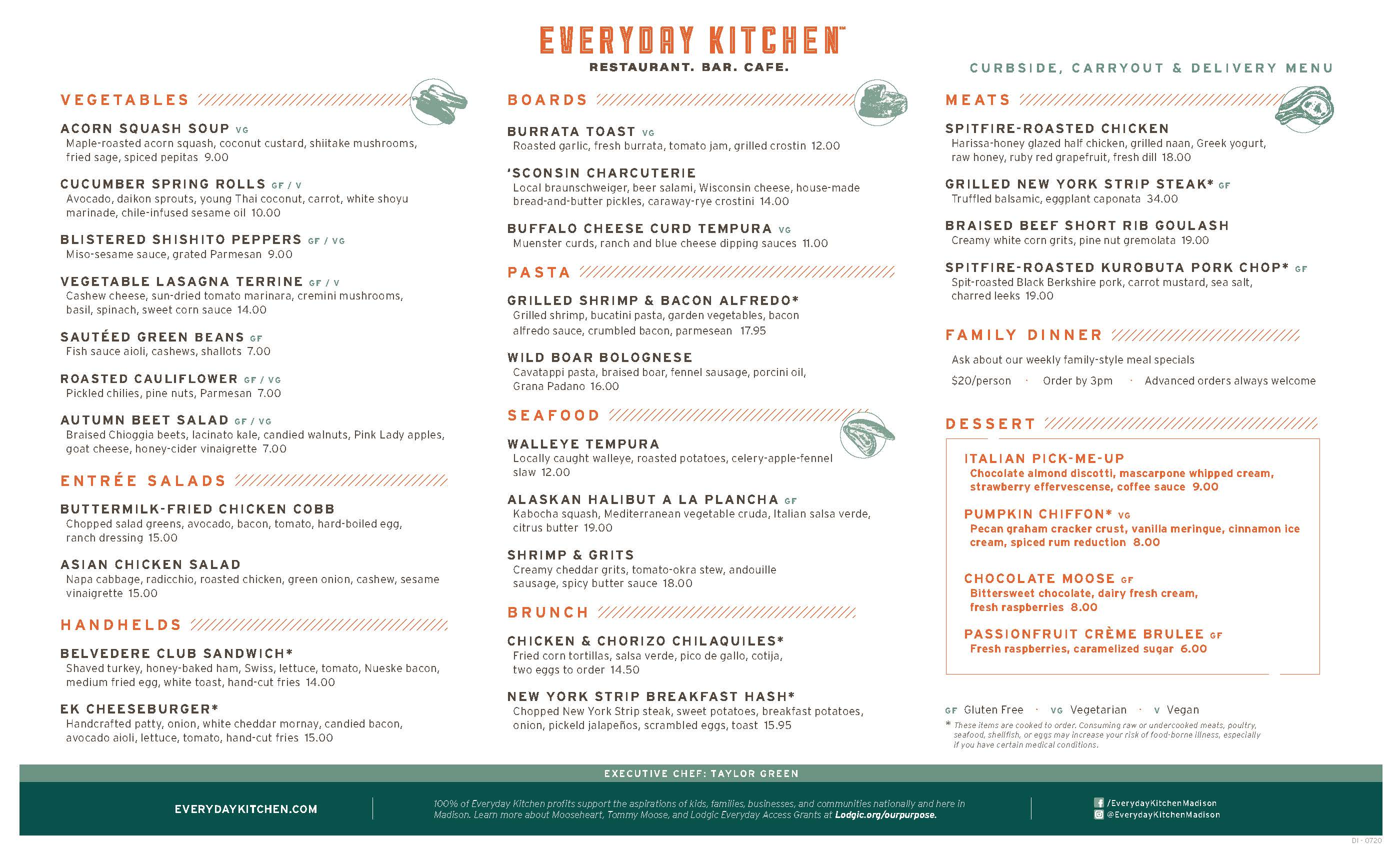 ALL DAY CURBSIDE CARRYOUT DELIVERY MENU